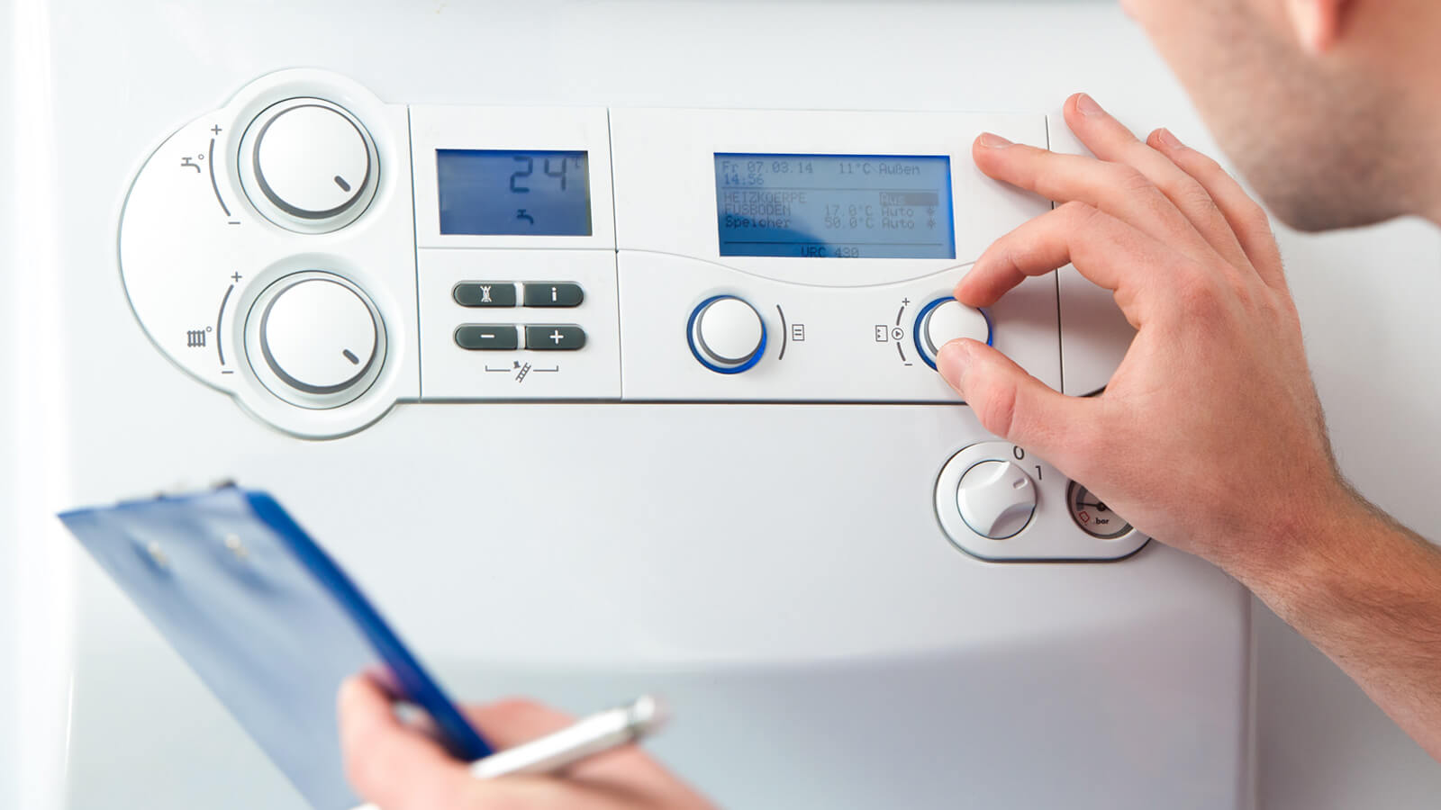 Gas boiler servicing near me